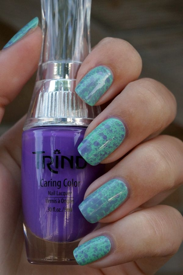 DIY Nail art | Spotted Purple ~ Beautyill | Beautyblog met nail art, nagellak, make-up reviews en meer!
