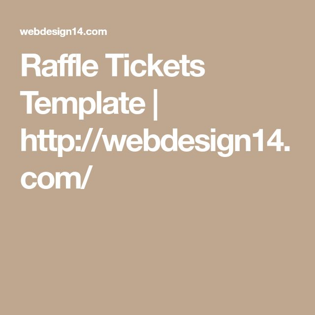 Raffle Tickets Template | http://webdesign14.com/