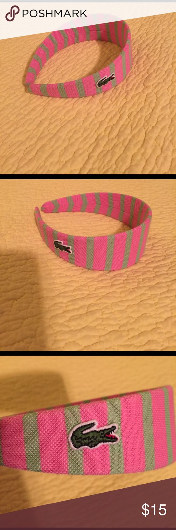 Lacoste Lacoste pink and green head band Lacoste Accessories Hair Accessories