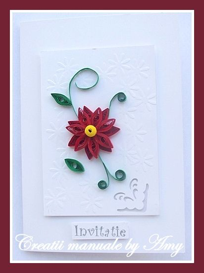 quilling wedding invitation