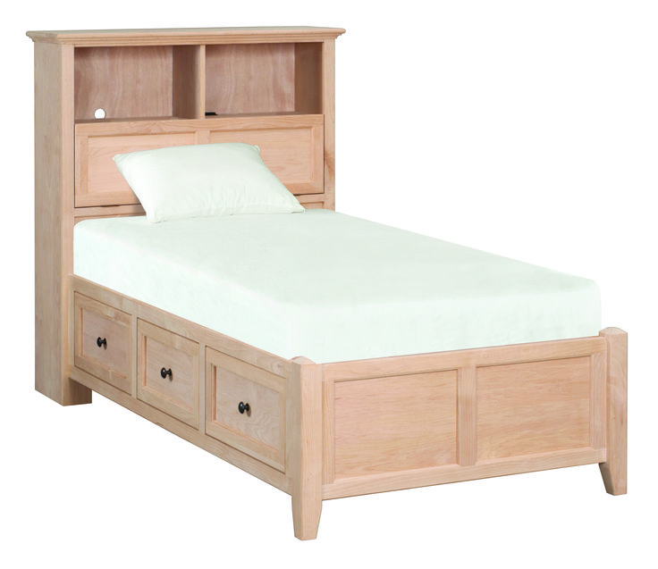 Unfinished Storage Bed   Features Include Hidden Storage Space, Built In  Power Strip And
