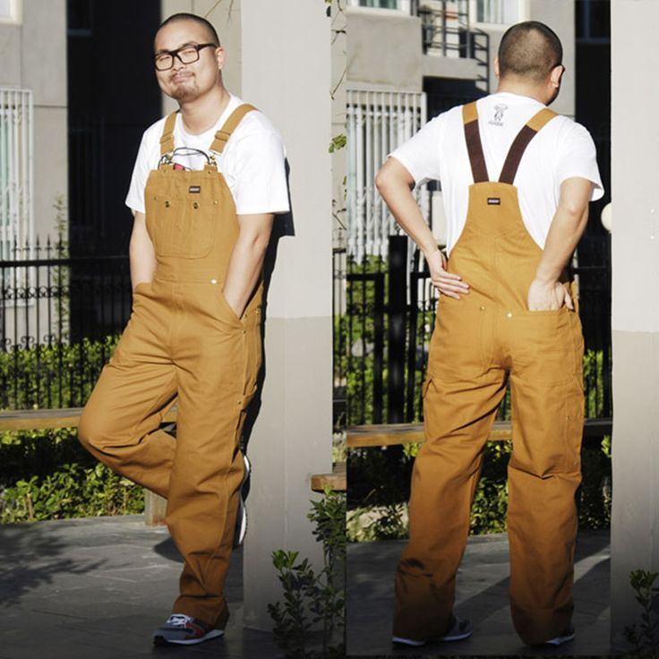 Mens bib overall work coveralls fashion vintage locomotive repairman strap jumpsuit pants work uniform thick sleeveless overalls