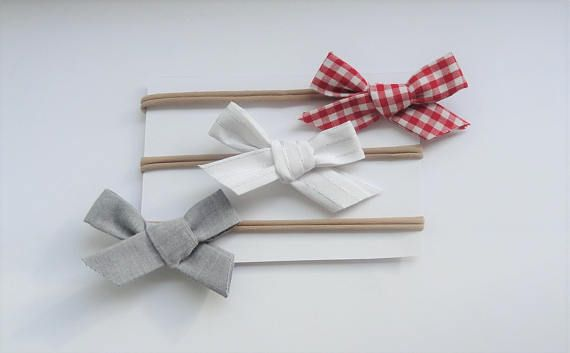 nylon headbands bows set Hair Accessory  photo prop headband Newborn Headband toddler headband bow headbands set girl bow headband plaid bow