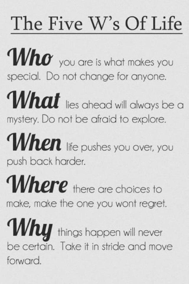 Important life questions. Borrowed from a friend. Quotes