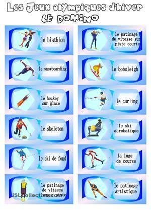 Les Jeux olympiques d'hiver: le domino - Fiches FLE