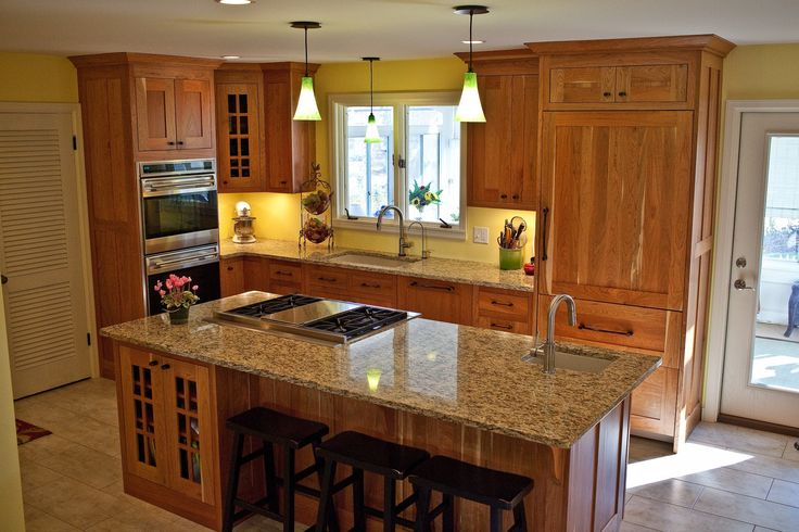 17 best images about kitchen ideas on pinterest stove - Kitchen island with cooktop and seating ...
