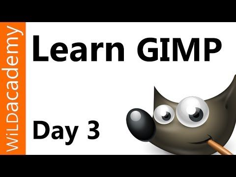 Learn GIMP Tutorial - Day 3 - Selection Tools - YouTube