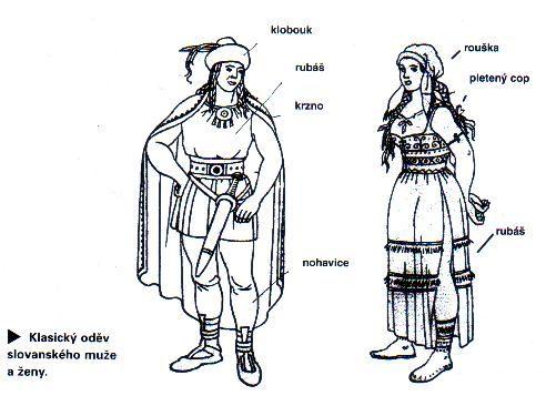 Historie odívání, Pravěk - Středověk - staří Slované