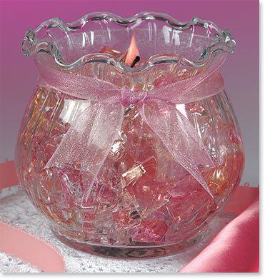 Gel wax candles