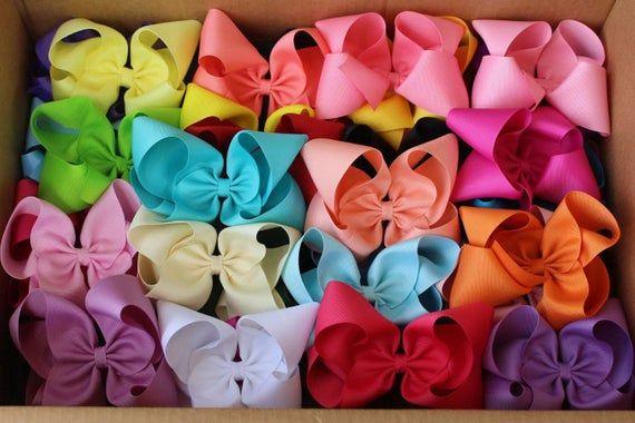 Set of 5 Hair Bows~M2M Matilda Jane Bows~Matilda Jane Hair Bows~MediumLarge Boutique Hair Bows~Boutique Hair Bows~Hair Bows~Girls Hair Bows