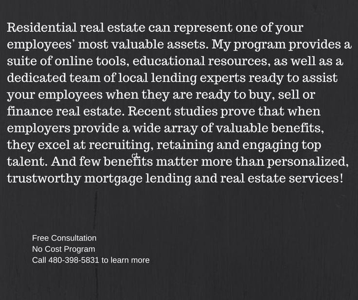 My program offers a solution and a way for organizations to enhance their benefit packages without increasing overhead. I assist you in creating more value in your benefit package by providing a benefit that streamlines the buying and selling of one's most valuable asset -- real estate. This cutting edge benefit is superior to anything in the marketplace and I look forward to providing your organization wth this valuable benefit.