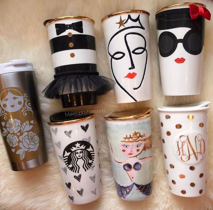 Collection of Starbucks mugs