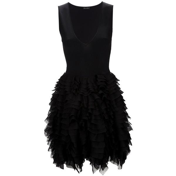 ANTONINO VALENTI ruffle skirt dress ($309,330) ❤ liked on Polyvore