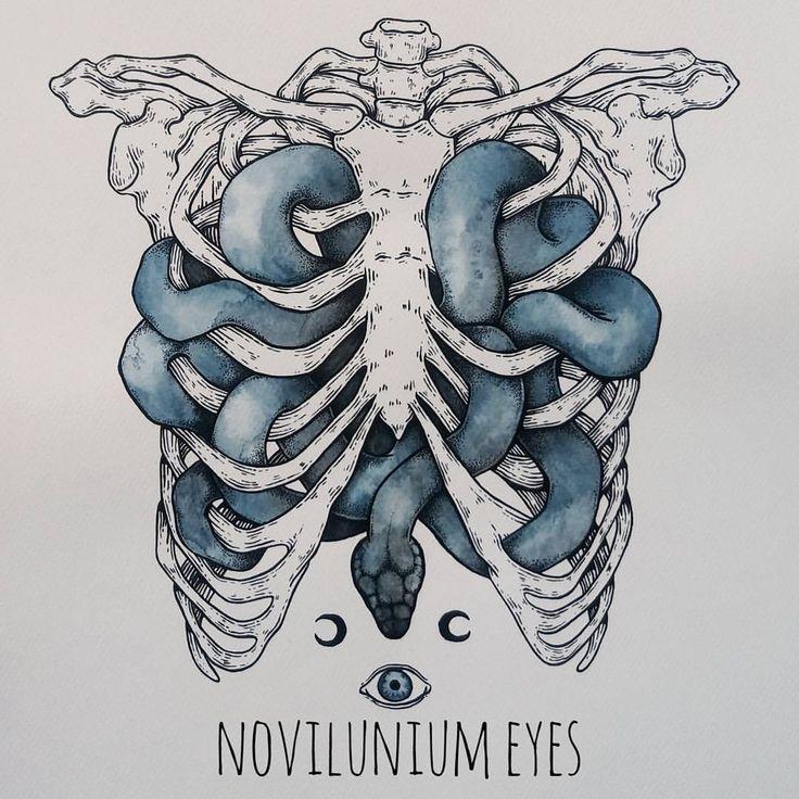 """2,238 Likes, 53 Comments - Novilunium Eyes (@novilunium_eyes) on Instagram: """"indigo snake #indigo #cest #bones #skeleton #ribcage #ribs #cage #snake #snaketattoo #tattoo #ink…"""""""