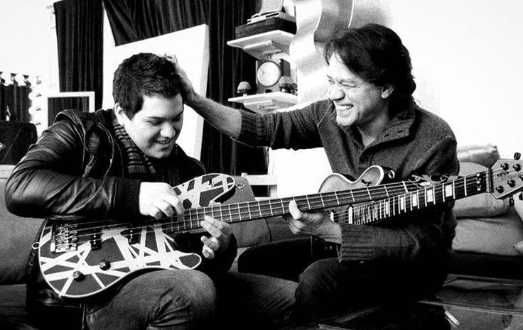 Wolfgang Van Halen and Eddie Van Halen