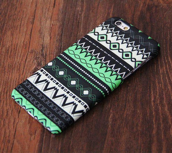 Green Aztec Pattern iPhone 6s Plus 6s 5S 5C 5 4 Dual Layer Durable Tough Case…
