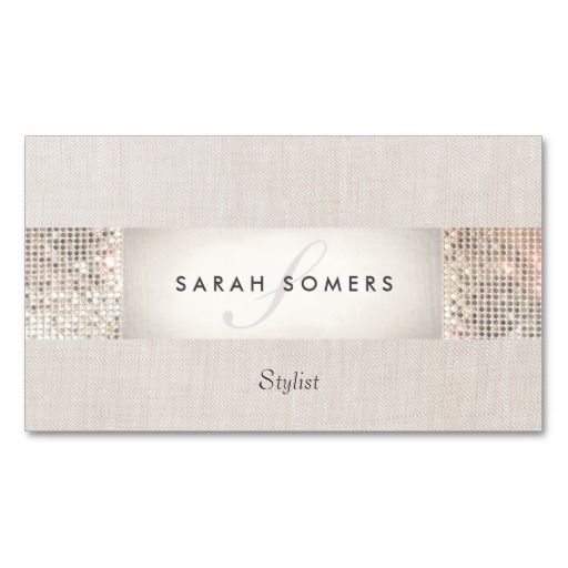 230 best makeup artist business cards images on pinterest make up modern striped beige faux silver sequin monogram business card templates reheart Image collections
