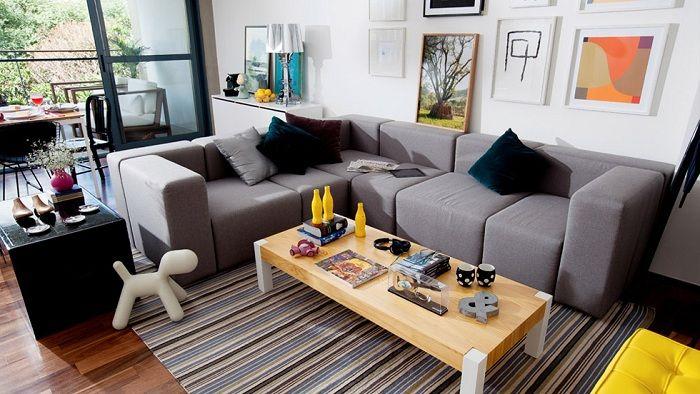 Sofá em L para decoração de sala pequena  Decoração  Pinterest