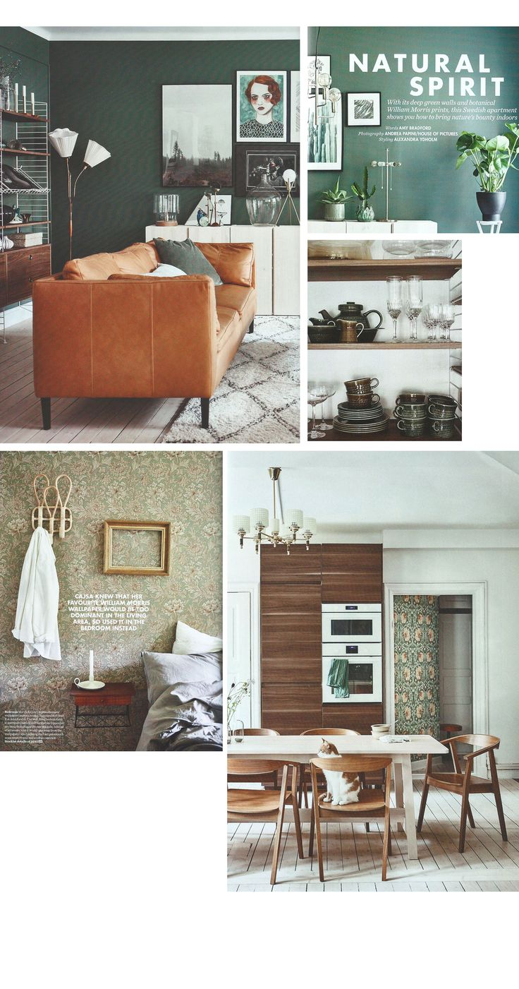 Natural spirit - article from elle decoration, skandiblog