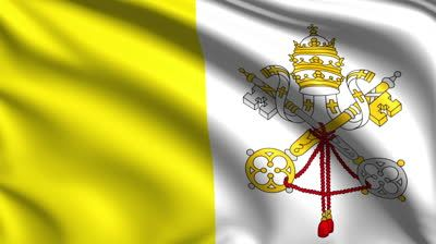 Fabric Vatican City Flag