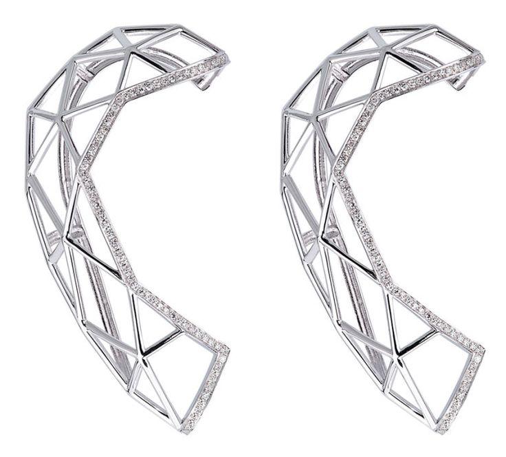 Coppia di orecchini in argento e brillanti, MVP Creations  -cosmopolitan.it