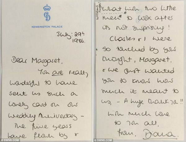 Princess Diana's Personal Letters to Margaret Hodge for Sale 3