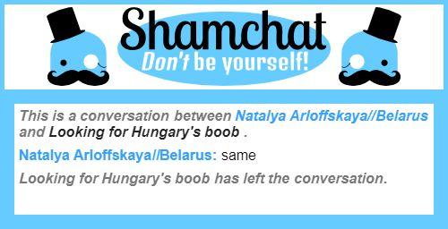 A conversation between Looking for Hungary's boob  and Natalya Arloffskaya//Belarus