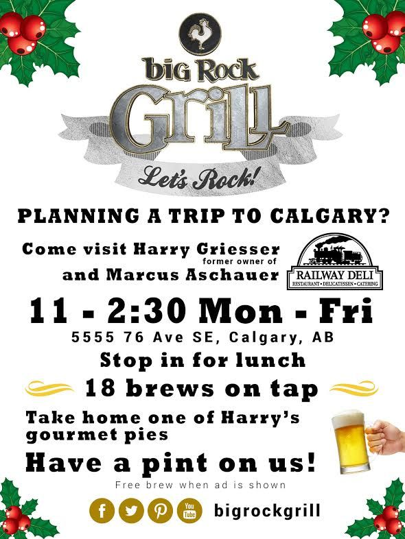 Big Rock Grill Rocky Mountain newspaper ad draft, watcha think? http://bigrockgrill.com/ #yyc #graphicdesign #holidays #marketing #christmas