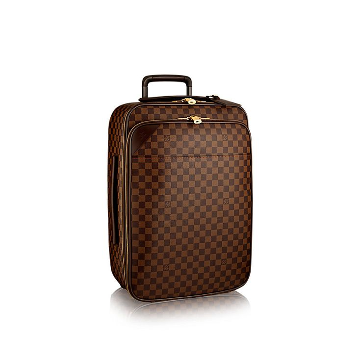 Discover Louis Vuitton Pégase Légère 55 Business: In Damier Ebène canvas, the Pégase Légère Business is the sleek companion for any business trip. Elegant and luxurious, this lightweight cabin-sized suitcase holds a maximum amount of kit thanks to multiple compartments and zippered pockets.