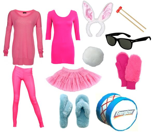 Energizer Bunny costume- this may be totally appropriate for this year!
