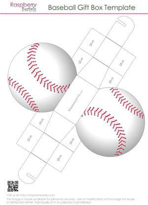 baseball gift box template printables pinterest box gifts and