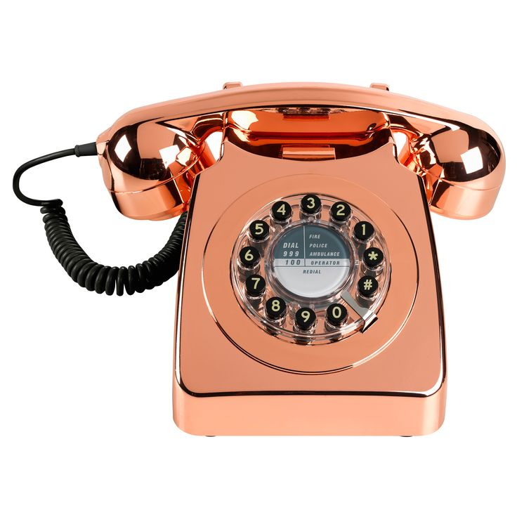 Buy the Metallic Copper Phone at Oliver Bonas. Enjoy free UK standard delivery for orders over £50.