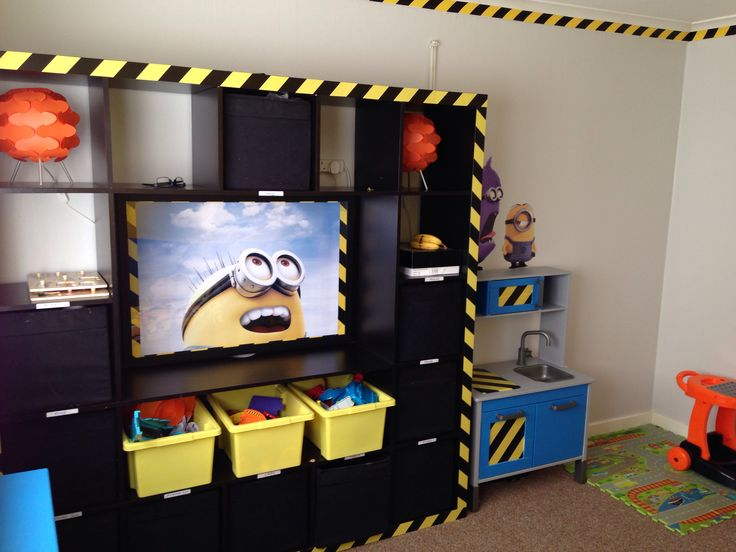 Minion Workstation In Masons Bedroom