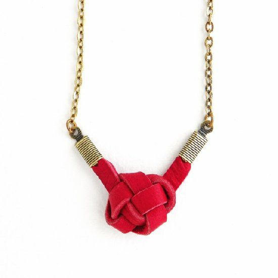 Knot jewelry is a hot trend. Why knot DIY it? This sweet little necklace is the ideal project to try out the trend.