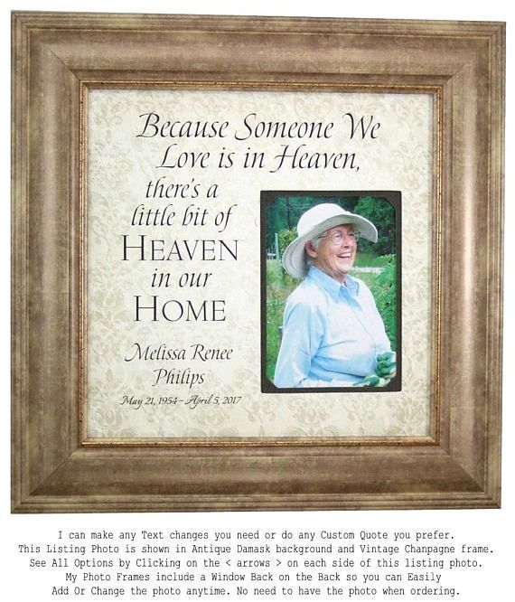 Handmade Wedding Gifts from PhotoFrameOriginals Custom Photo Mats Personalized In Memory Of Memorial Frame Remembrance
