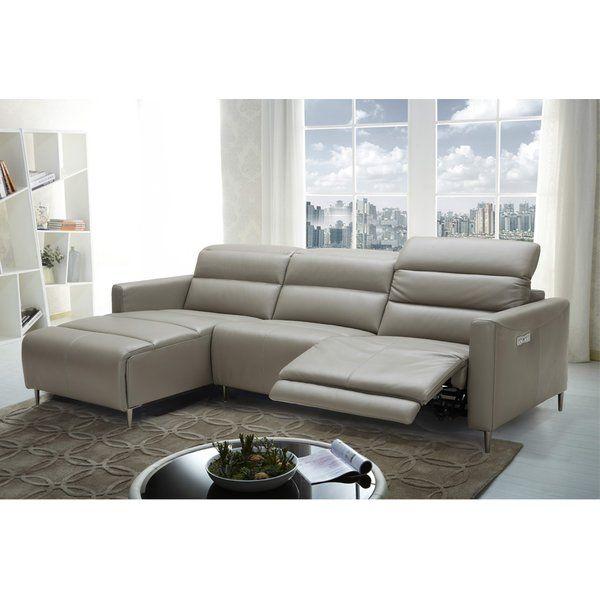 Orren Ellis Cragin Leather Sectional Wayfair Sectional Sofa Leather Sectional Reclining Sectional