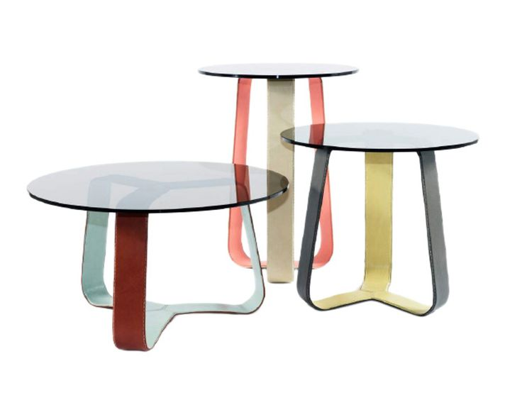 Whisk By Ted Boerner  MidCentury  Modern, Traditional, Glass, Leather, Table by Dennis Miller Associates