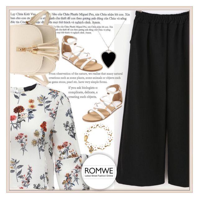 """""""Romwe4"""" by adelisa56 ❤ liked on Polyvore featuring Jennifer Meyer Jewelry, Betsey Johnson and romwe"""