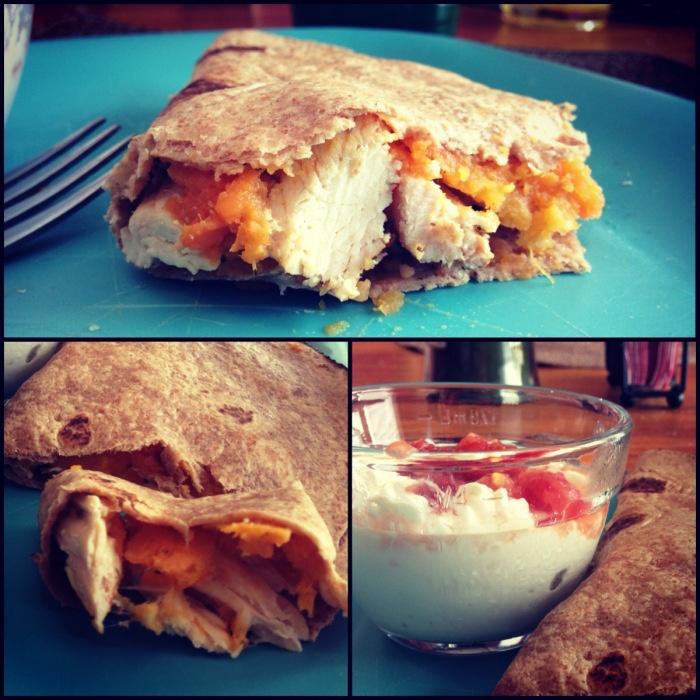 "Sweet Potato/Chicken Quesadilla | ""Healthy"" Foods | Pinterest"