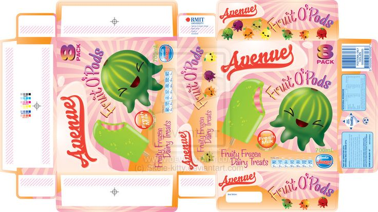 Ice Cream Doll Template | Ice Cream Packaging Template by
