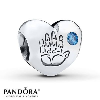 Pandora Charm Baby Boy Blue CZ Sterling Silver