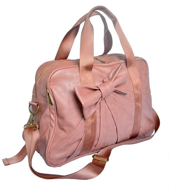 Beverly Bowtie Gym Bag In Dusty Rose 15400