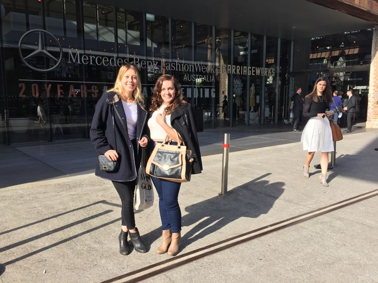 Comms. Coordinator Bronte, and Social Meddia Coordinator Amy had a ball at Fashion Week representing 1MW!