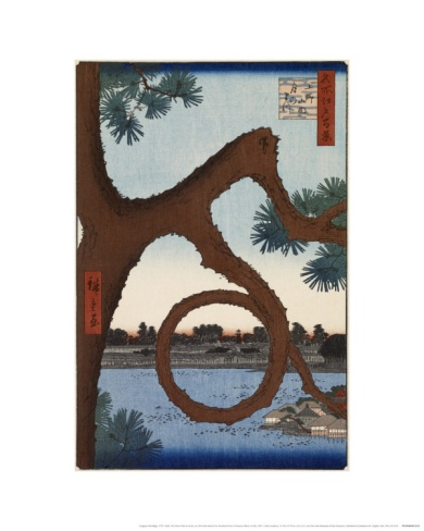 The Moon Pine at Ueno by Utagawa Hiroshige. Giclee print from Art.com.