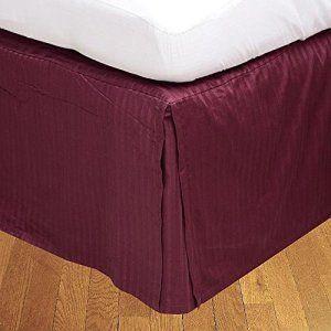 Dreamz Étui Parure de lit en coton égyptien 650Super Doux fils Finition élégante plissé Boîte 1Jupe de lit (Drop Longueur: 76,2cm) Euro…