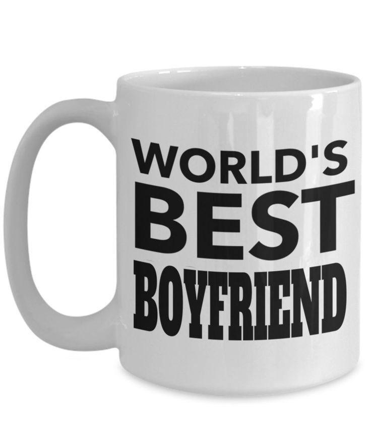 Boyfriend Gifts From Girlfriend Anniversary - 15oz Boyfriend Coffee Mug - Best Boyfriend Gifts For Birthday - Funny Boyfriend Mug - Worlds Best Boyfriend