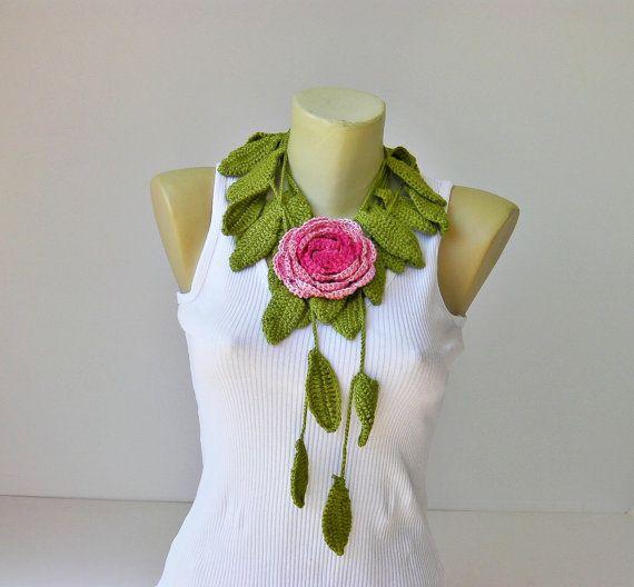 crochet jewelry /crochet pendant / crochet necklace/ by SenaShop, $25.90