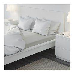 IKEA - SÖMNIG, Drap housse, 160x200 cm, , Le mélange lyocell/coton absorbe et évacue l'humidité corporelle pour un sommeil au sec.Linge de lit tissé très fin et très serrépour une qualité très douce et résistante.Drap-housse pour matelas de 26 cm d'épaisseur maximum.