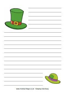 Shamrock writing paper