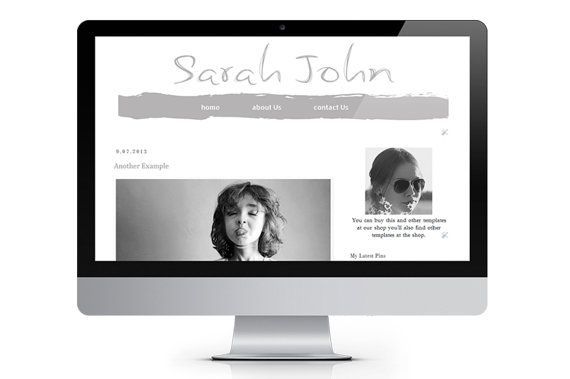 Light Black   Premade Blogger Template by ONESMFA on Etsy, $20.00